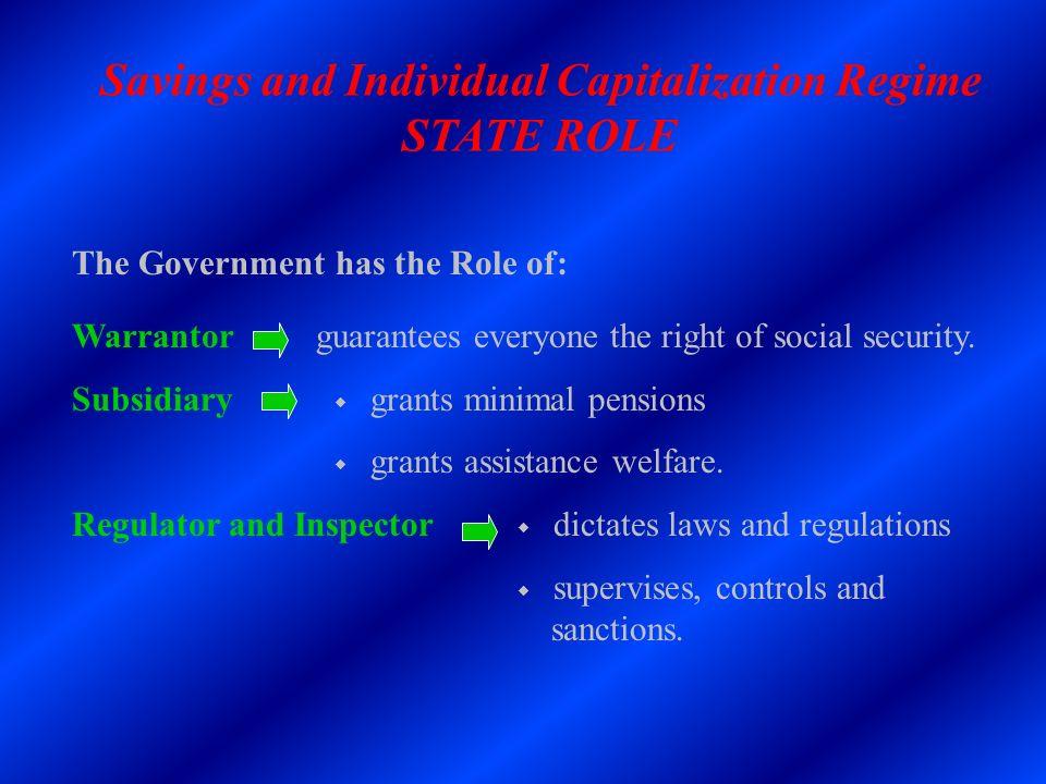 Savings and Individual Capitalization Regime