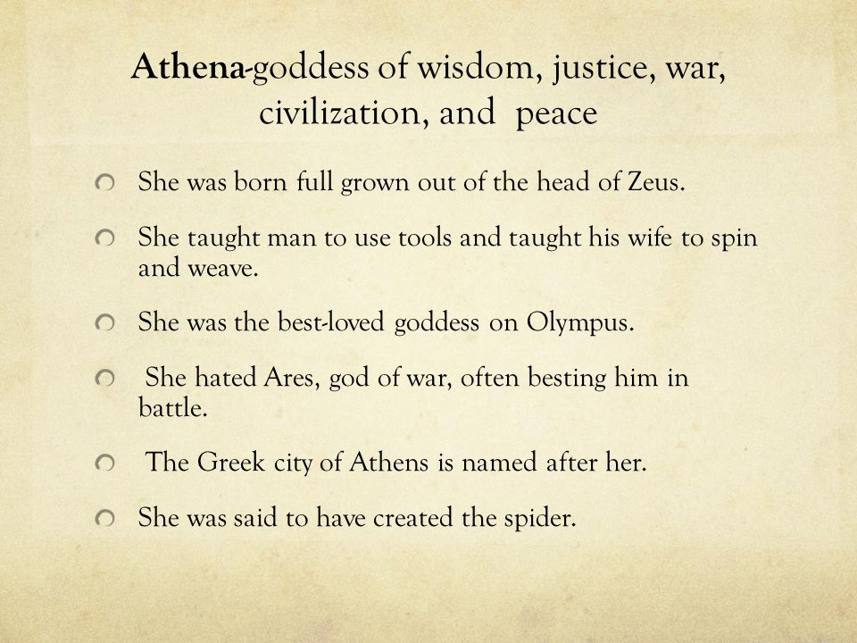 athena the godess of wisdom essay Read the short story and myth of athena, the goddess of wisdom and visit the ancient world of gods & monsters the story and myth of athena, the goddess of wisdom features pictures from mythology and legend.