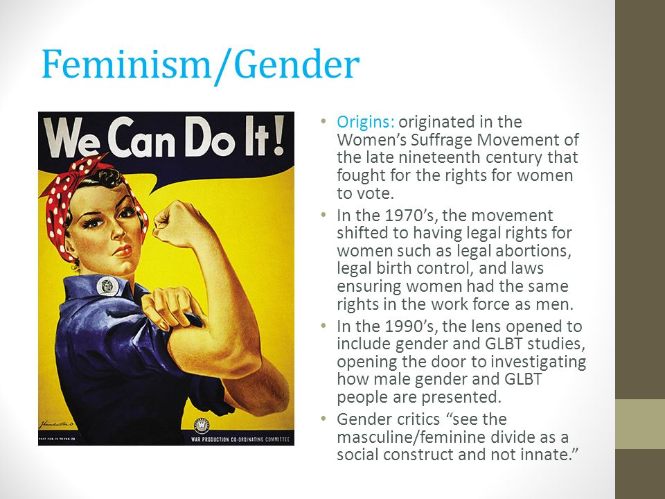 Feminism and gender equality in the 1990s