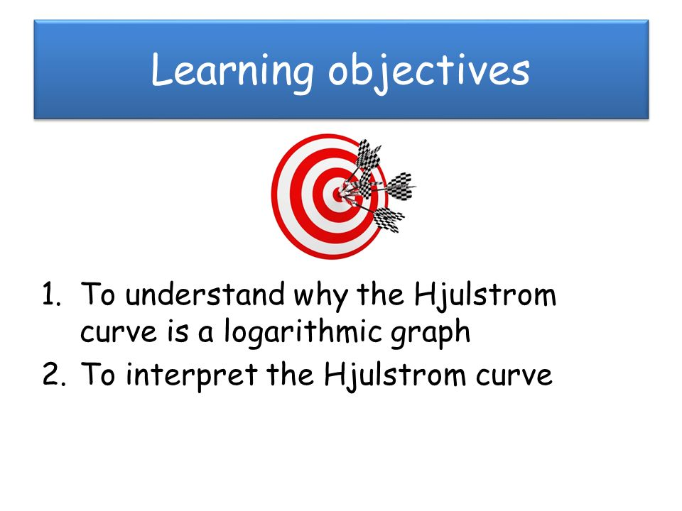 Learning objectives to understand why the hjulstrom curve is a learning objectives to understand why the hjulstrom curve is a logarithmic graph ccuart Gallery
