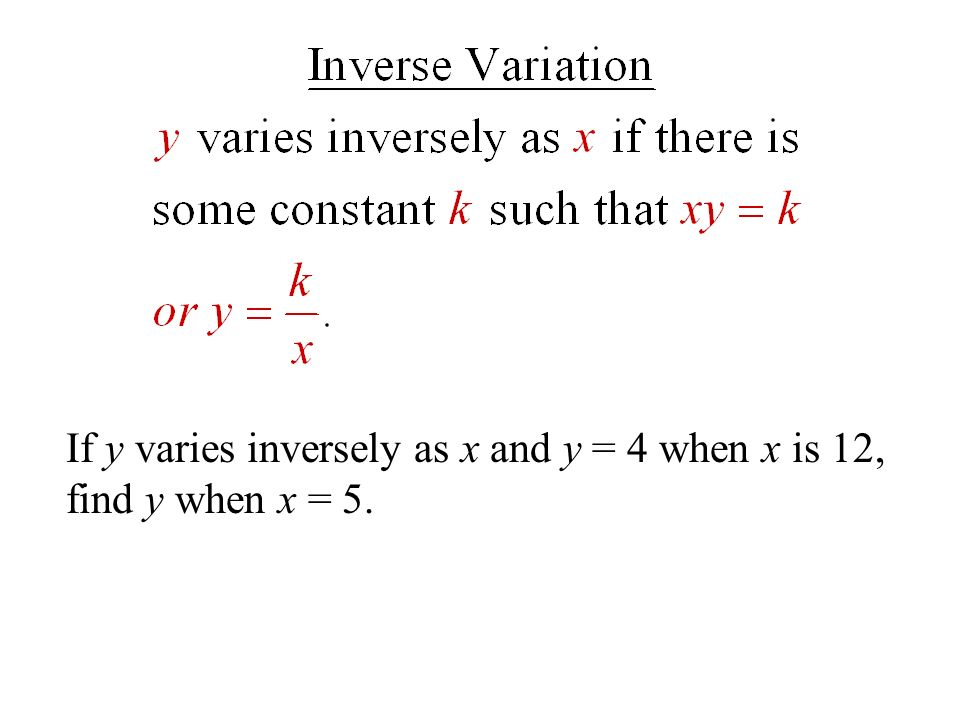 38 Direct Inverse And Joint Variation Ppt Video Online Download