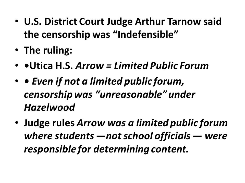 an analysis of the hazelwood ruling and its effects on student journalists The court applied the analysis from the hazelwood decision student journalists had a right to exercise faculty advisor did not create a chilling effect.