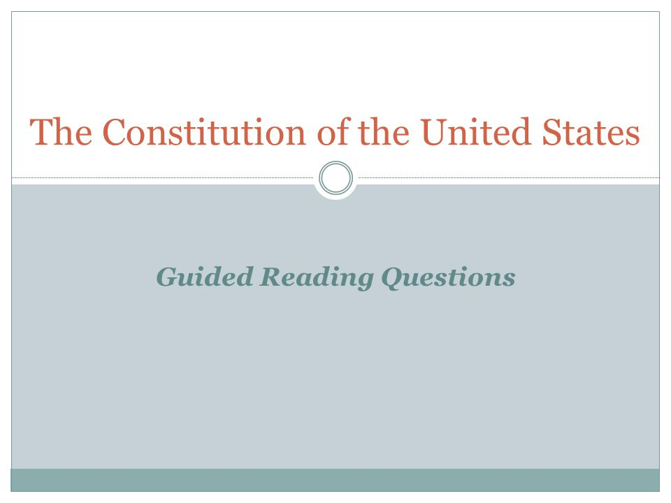 united states constitution and points question Once the constitution of the united states was written in 1787 at the philadelphia   as describing the federalist or the anti-federalist point of view.