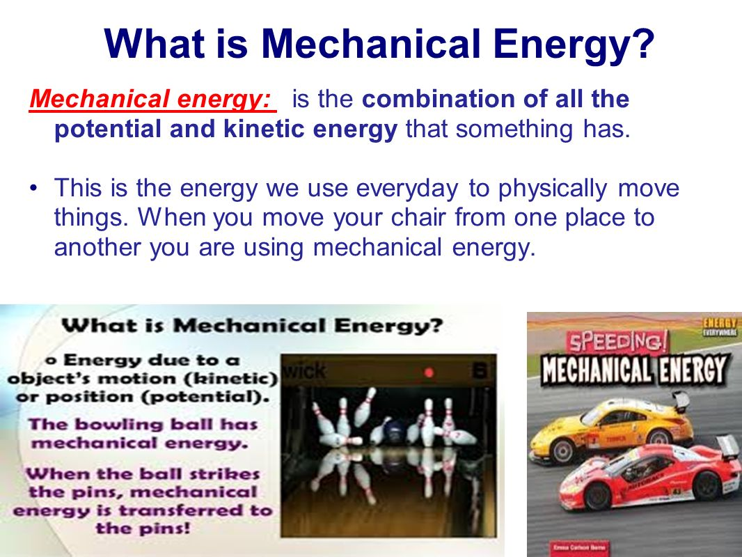Examples Of Mechanical Energy For 5th Grade