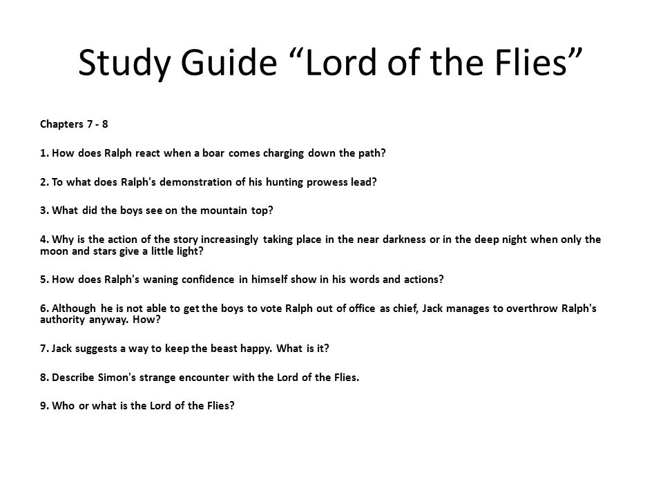 lord of the flies chapter 5 analysis