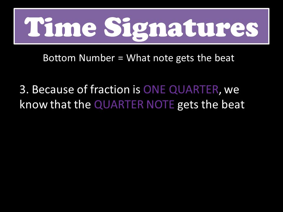 Bottom Number = What note gets the beat