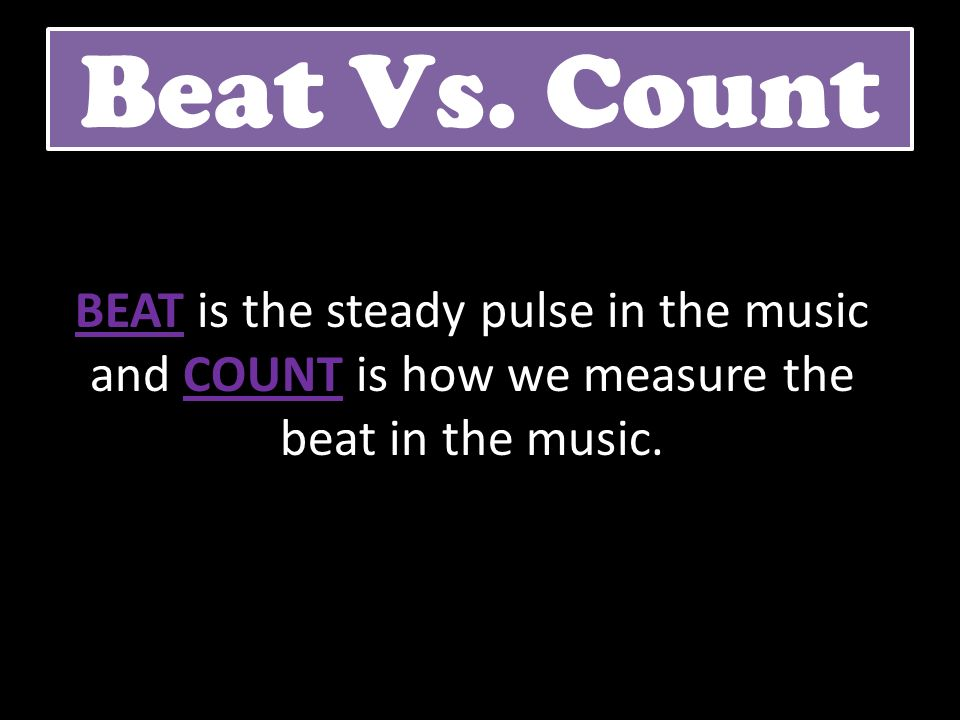 Beat Vs.