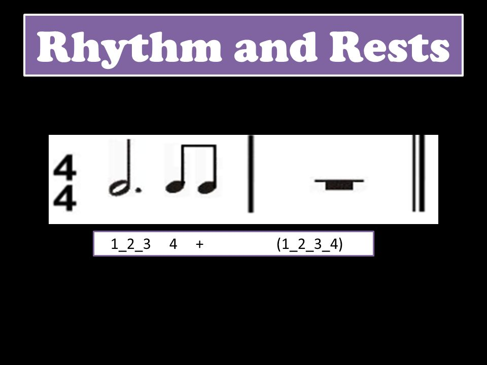 Rhythm and Rests 1_2_3 4 + (1_2_3_4)