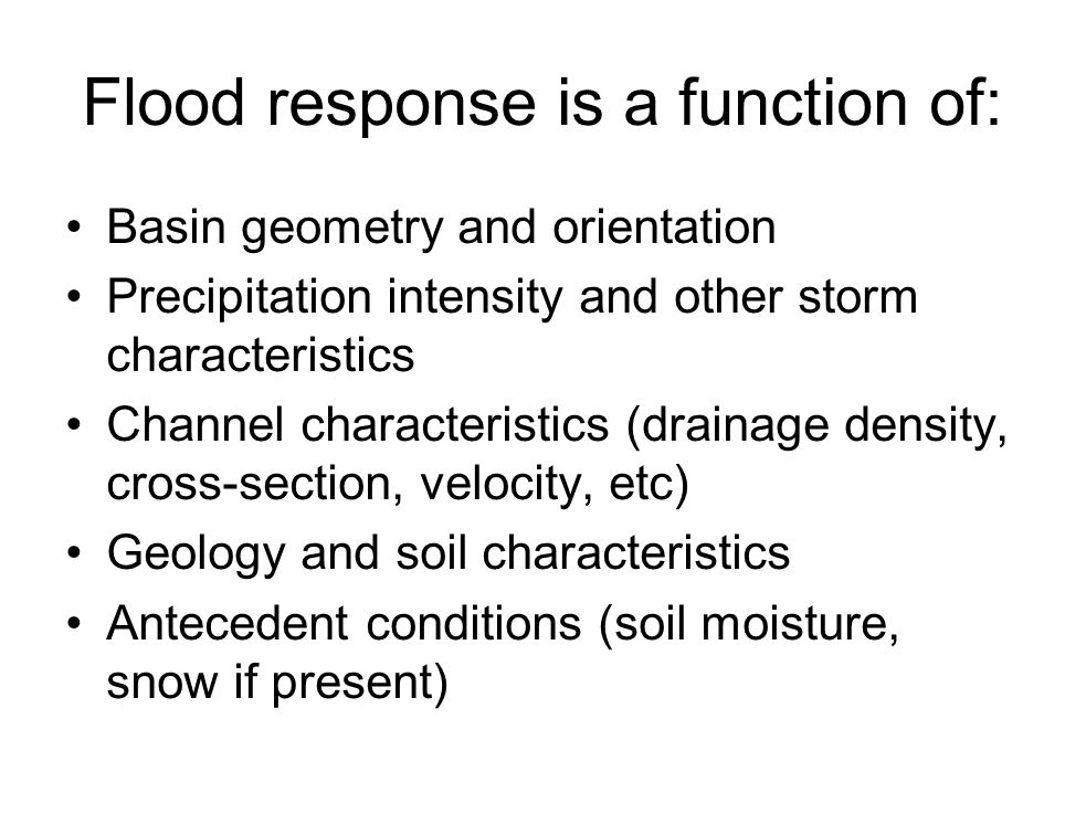 Some issues in flood hydrology in the climate context for What are soil characteristics
