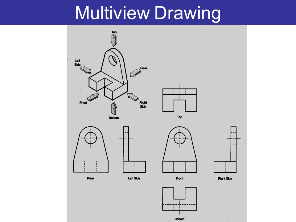 Sketching multiview drawings ppt video online download for 3 dimensional drawing software