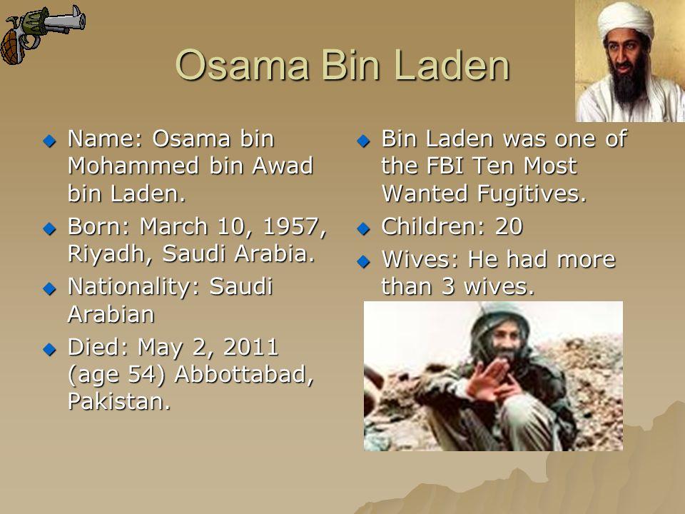 The War For Osama Bin Laden