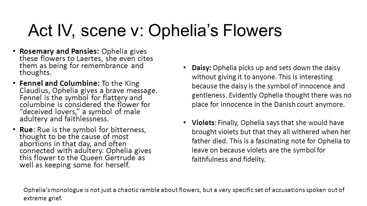 Act iv scene v ophelias flowers and laertes sword ppt video 2 act biocorpaavc Choice Image