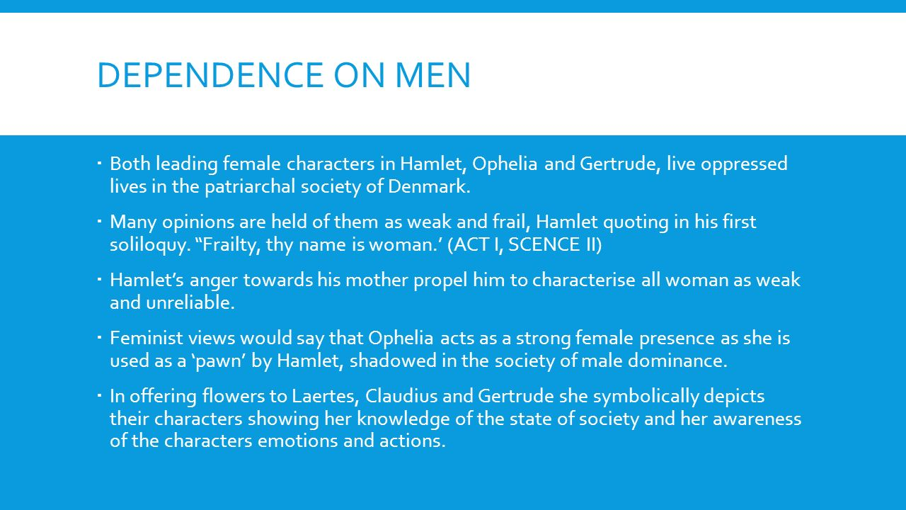 hamlet ophelia and gertrude essay example
