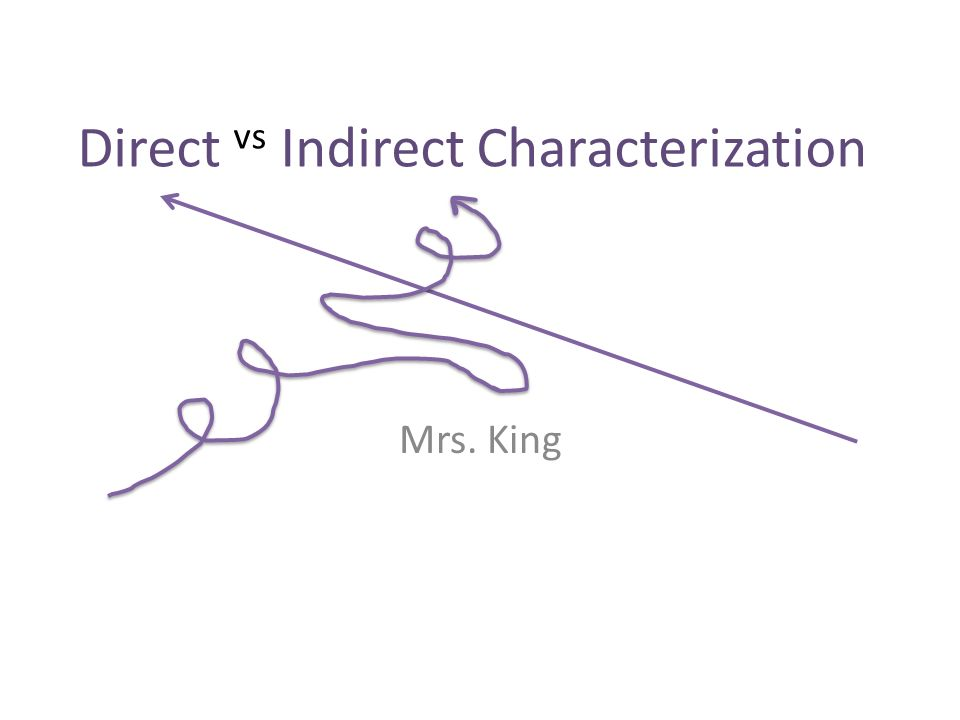 Direct vs Indirect Characterization ppt video online download – Indirect Characterization Worksheet