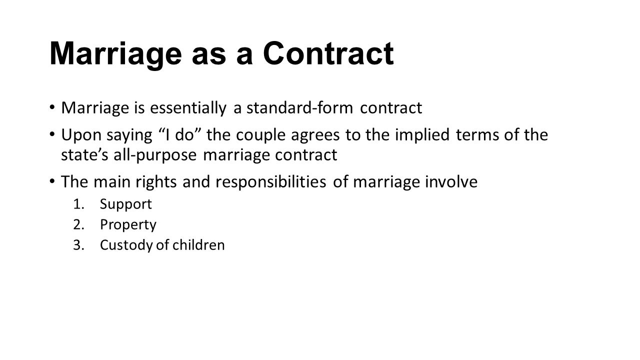Family law ppt download marriage as a contract marriage is essentially a standard form contract falaconquin