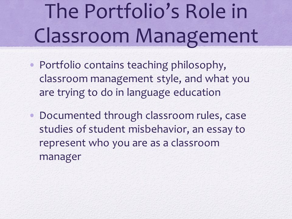 reflective essay on classroom management Reflective essays can focus on personal development, academic connections to the course content, or ideas and recommendations for future action as with any essay, criteria can be clearly stated to guide the work of the students.