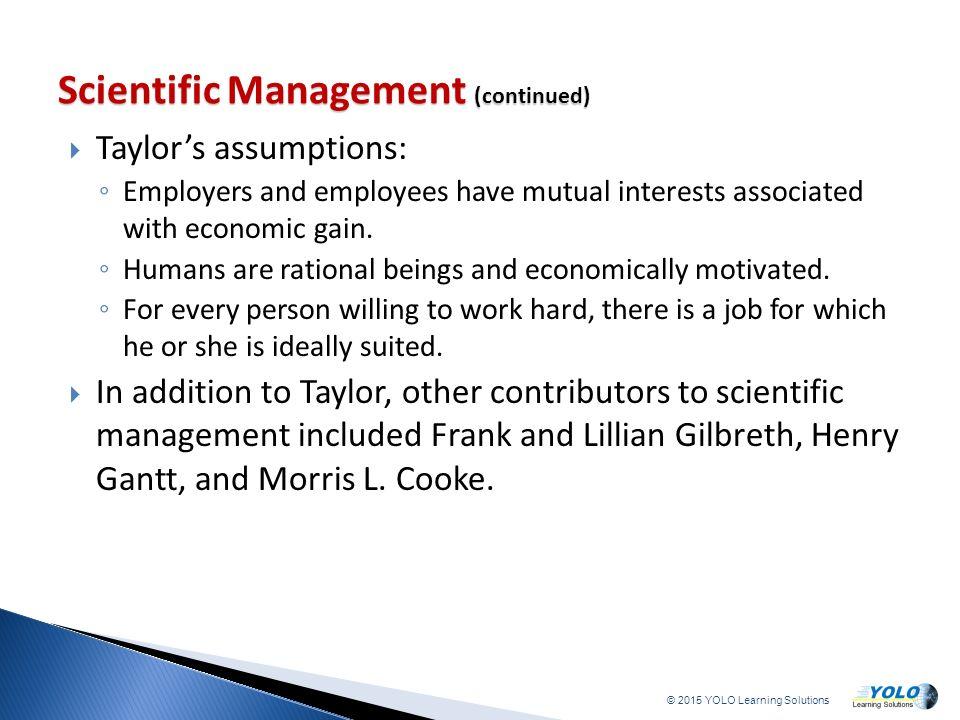 scientific management taylor