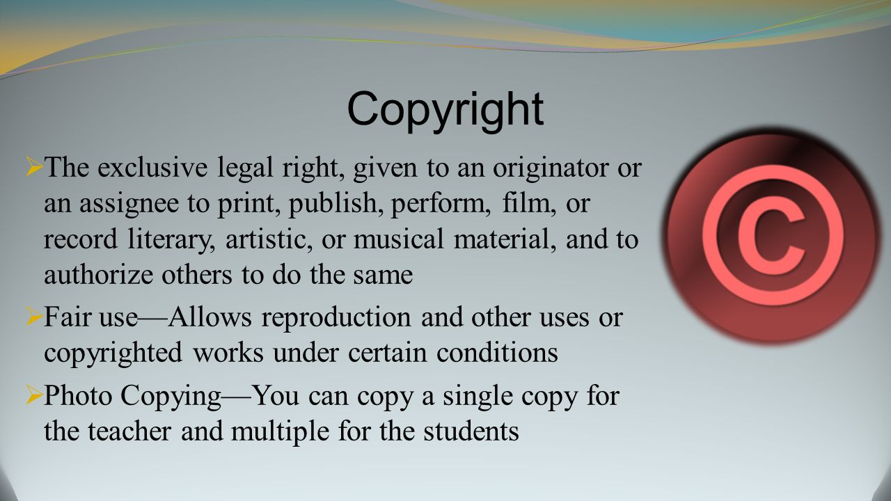 Copyright Laws on the Internet