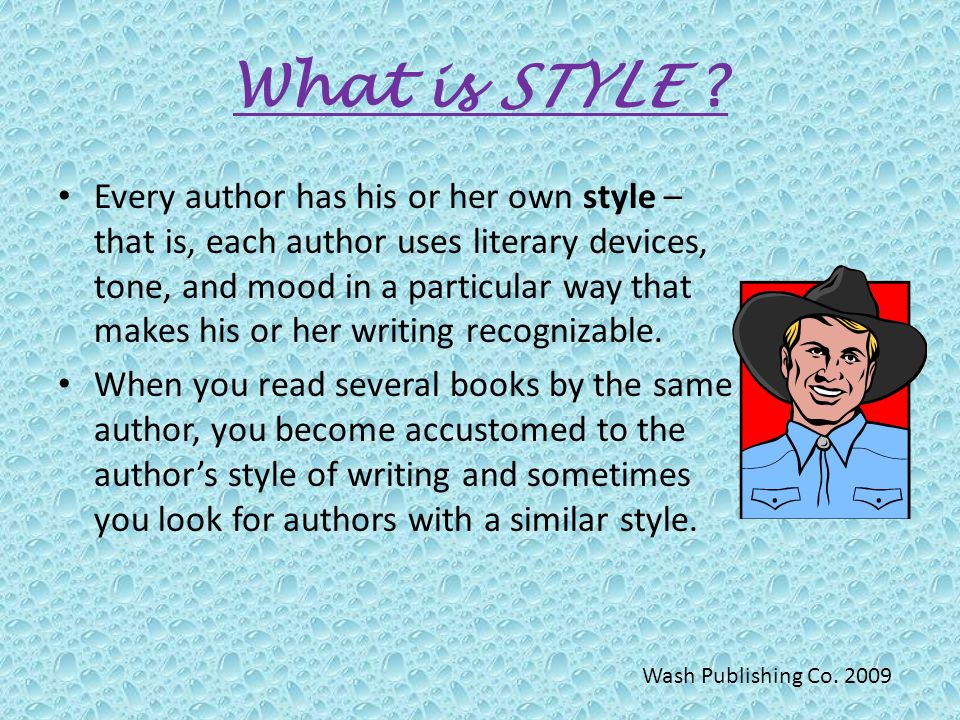 authors writing style The authors of these works take into account their audience and writing occasion before choosing to adopt their writing style in freshman composition, the writing occasion is an academic essay and the audience is usually the student's professor/classmates.
