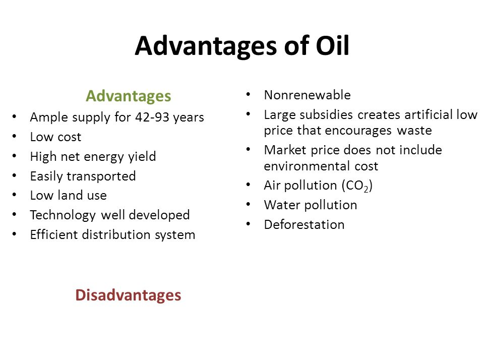"advantage and disadvantage of peak oil The theory of ""peak oil""  the disadvantage of this method is that although the  this second technique has the advantage of fitting three free parameters and ."