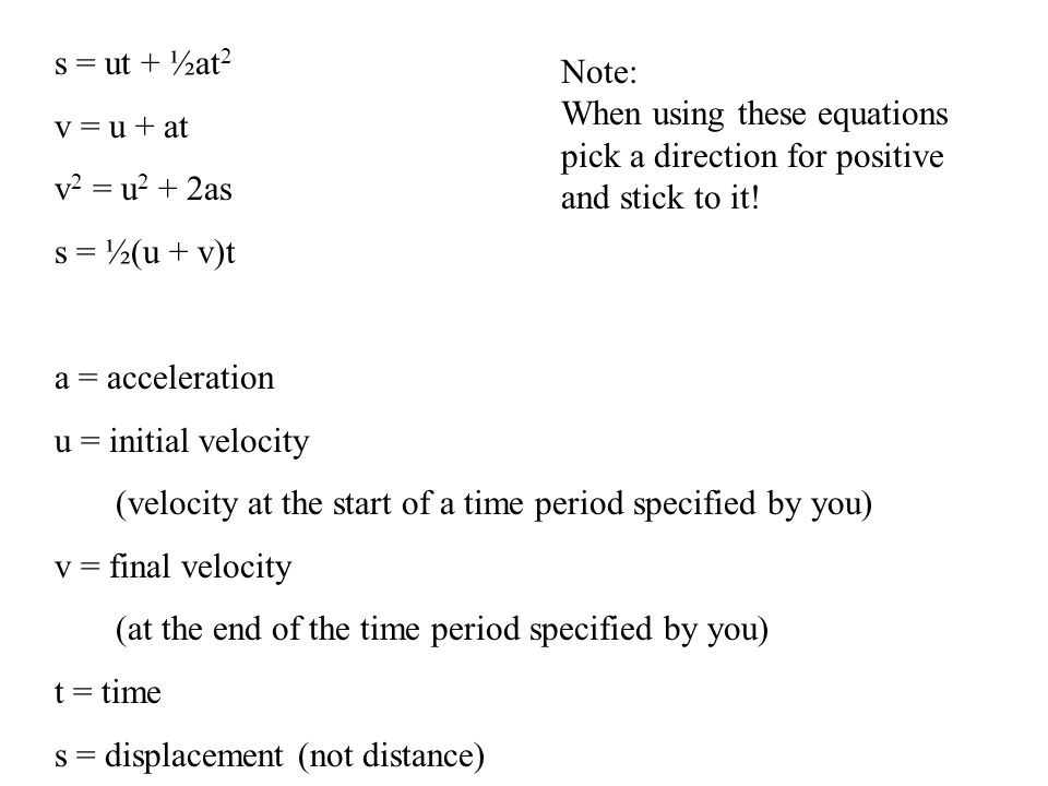 Kinematics In 1 Dimension With Constant Acceleration Ppt
