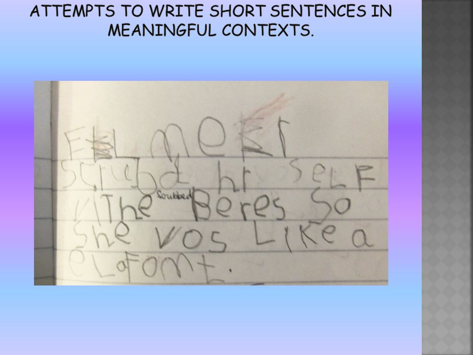 writing in reception