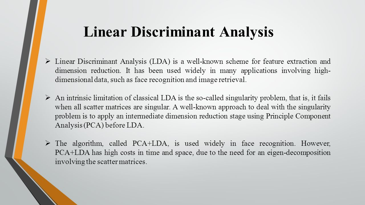 linear discriminant analysis thesis