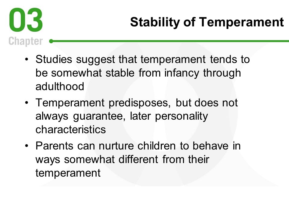 Stability of Temperament