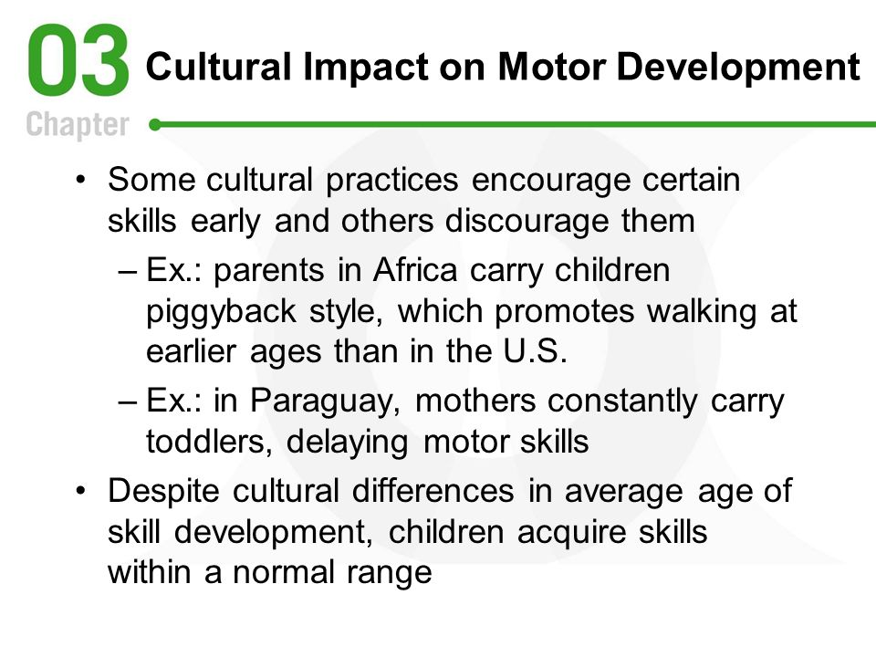Cultural Impact on Motor Development