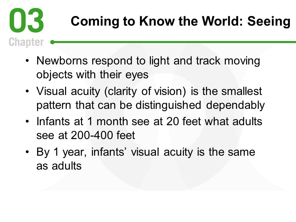 Coming to Know the World: Seeing