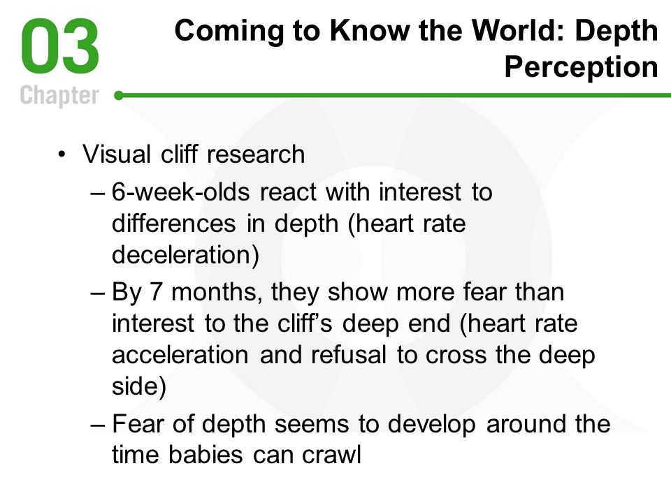 Coming to Know the World: Depth Perception