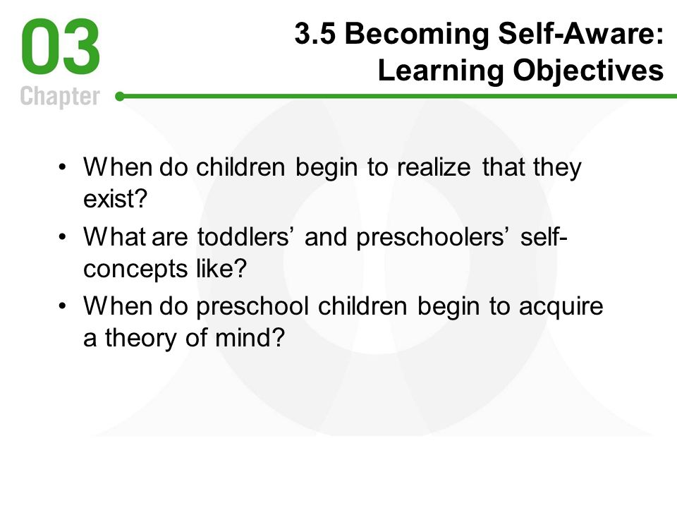 3.5 Becoming Self-Aware: Learning Objectives