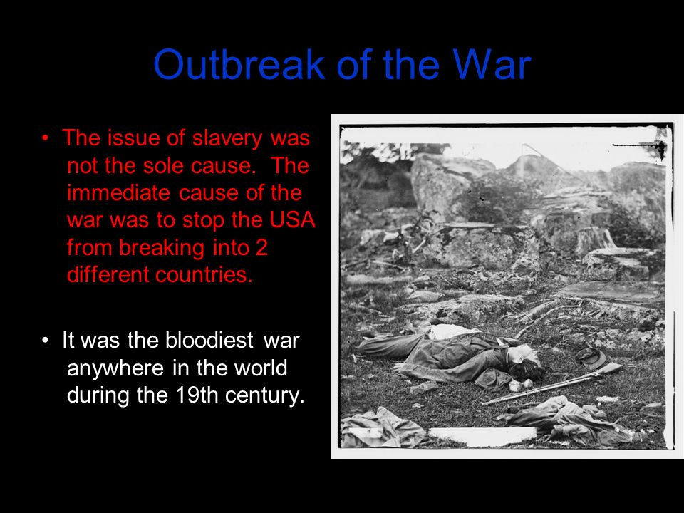 outbreak of the civil war essay The role of african americans in the civil war  the tools you need to write a quality essay or term  even he could not stop the outbreak of the civil war.