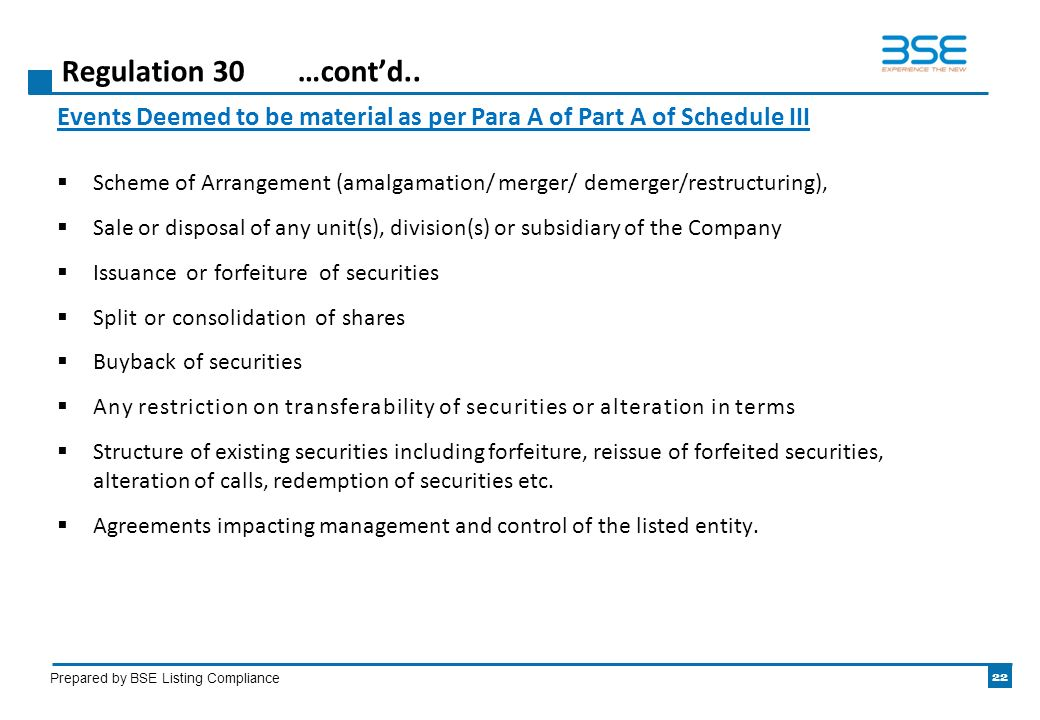 Listing obligations and disclosure requirements regulations ppt 22 regulation platinumwayz