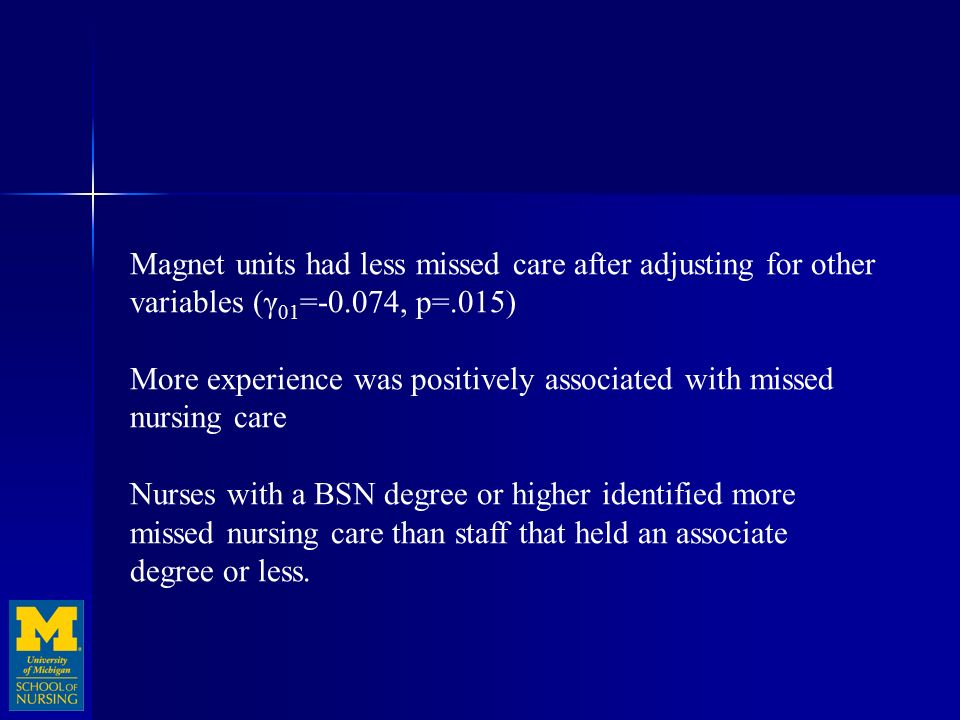 missed nursing care staffing and patient Effects of increasing nurse staffing on missed nursing care authors s-h cho rn, phd (omission of required care) in high-staffing (7 patients per nurse.