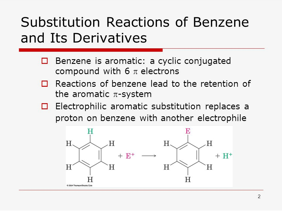 electrophilic substitution reaction of benzene pdf