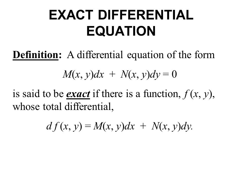 Section 2.4 Exact Equations. - ppt video online download