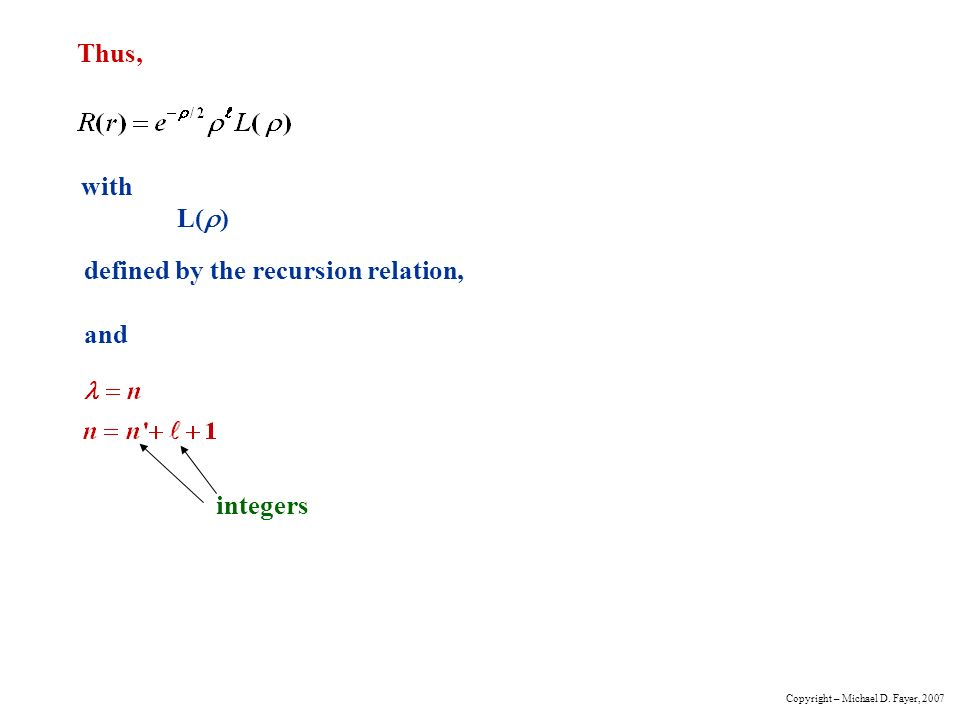how to find recursion relation