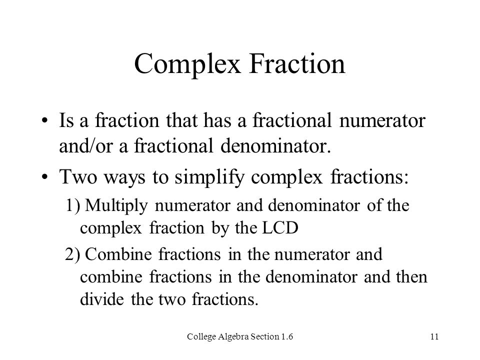 Algebraic Fractions Section ppt video online download