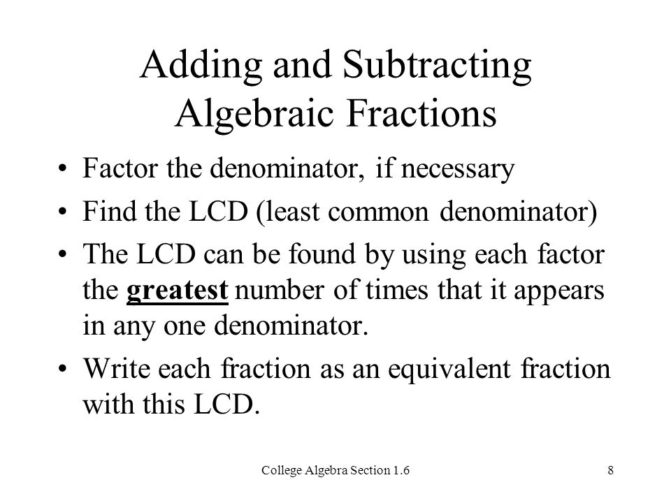 Addition And Subtraction Of Algebraic Fractions Worksheet & adding ...