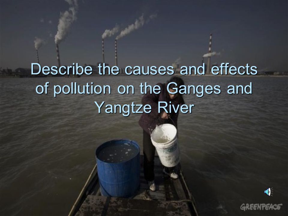 the causes and effects of pollution The lesson is about the causes and effects of the 4 types of pollution air, land, water and noise the lesson includes a lot of new vocabulary as well as linkers of addition and result.