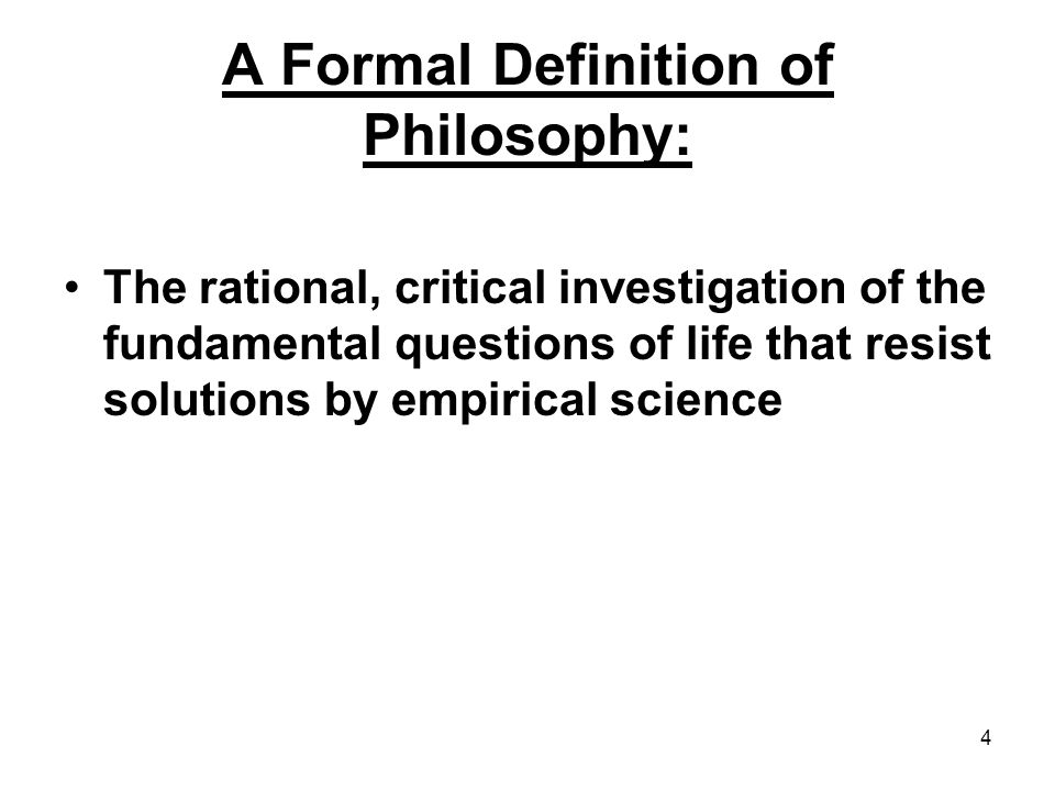 an introduction to the analysis and the definition of philosophy [module a] argument analysis an important part of critical thinking is being able to give reasons to support or criticize a position.