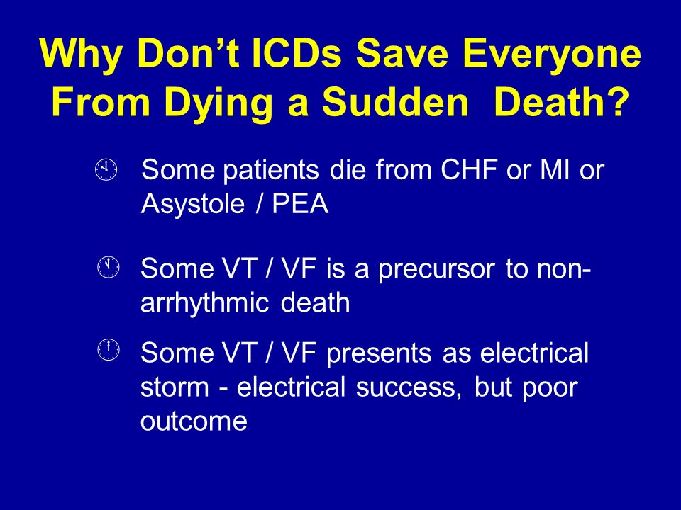 Why Don't ICDs Save Everyone From Dying a Sudden Death