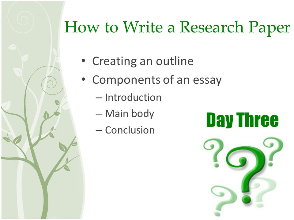 How to Write a Research Paper