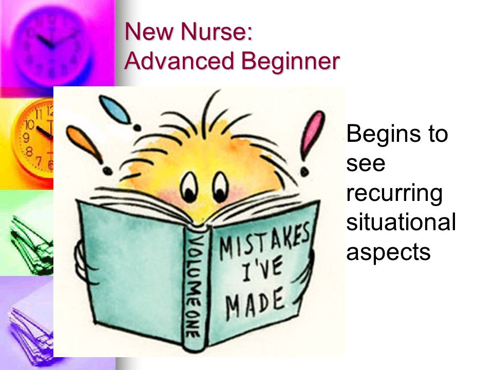 the beginner nurse Dr patricia benner is a nursing theorist who first developed a model for the stages of clinical competence in her classic book from novice to expert:  nurse.