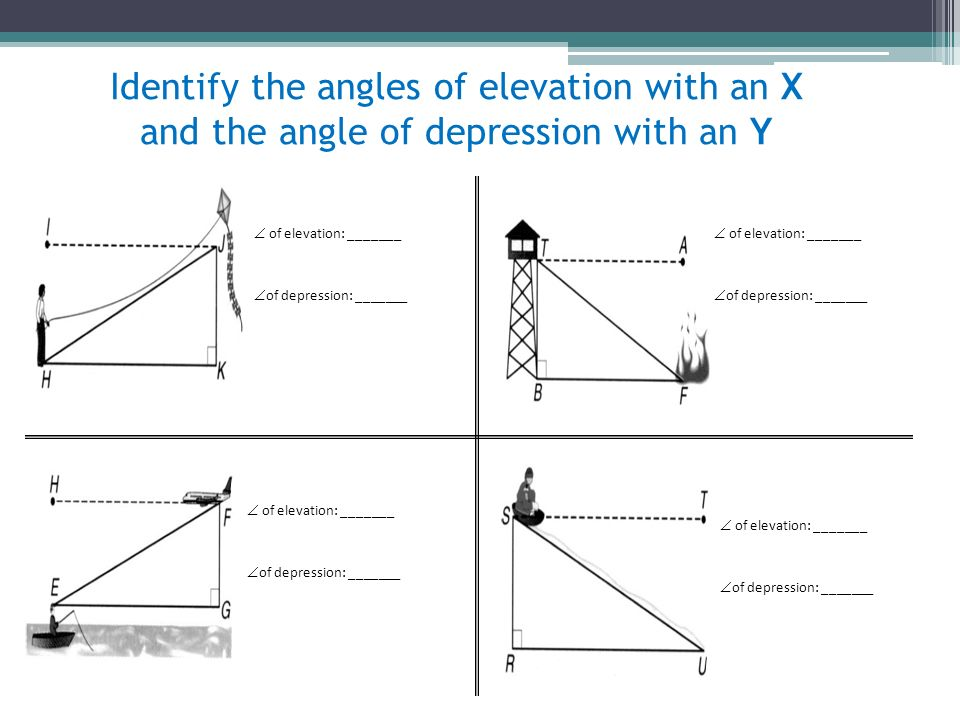 angles of elevation angles of depression g 8 ppt video online download. Black Bedroom Furniture Sets. Home Design Ideas