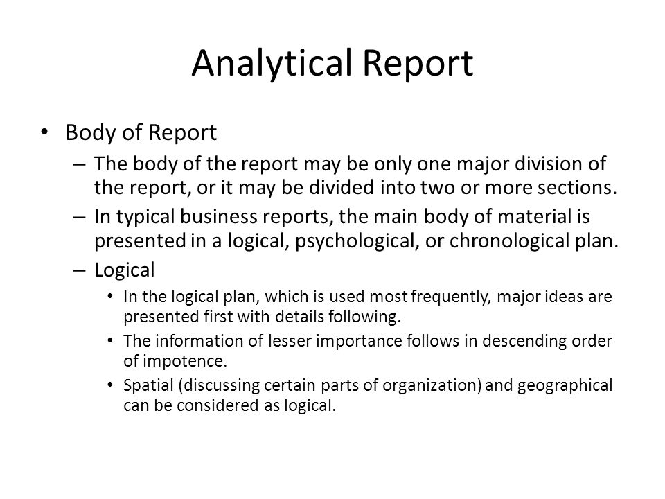 analytical report on business organization Essays - largest database of quality sample essays and research papers on example of analytical report  analytical report on business organization.