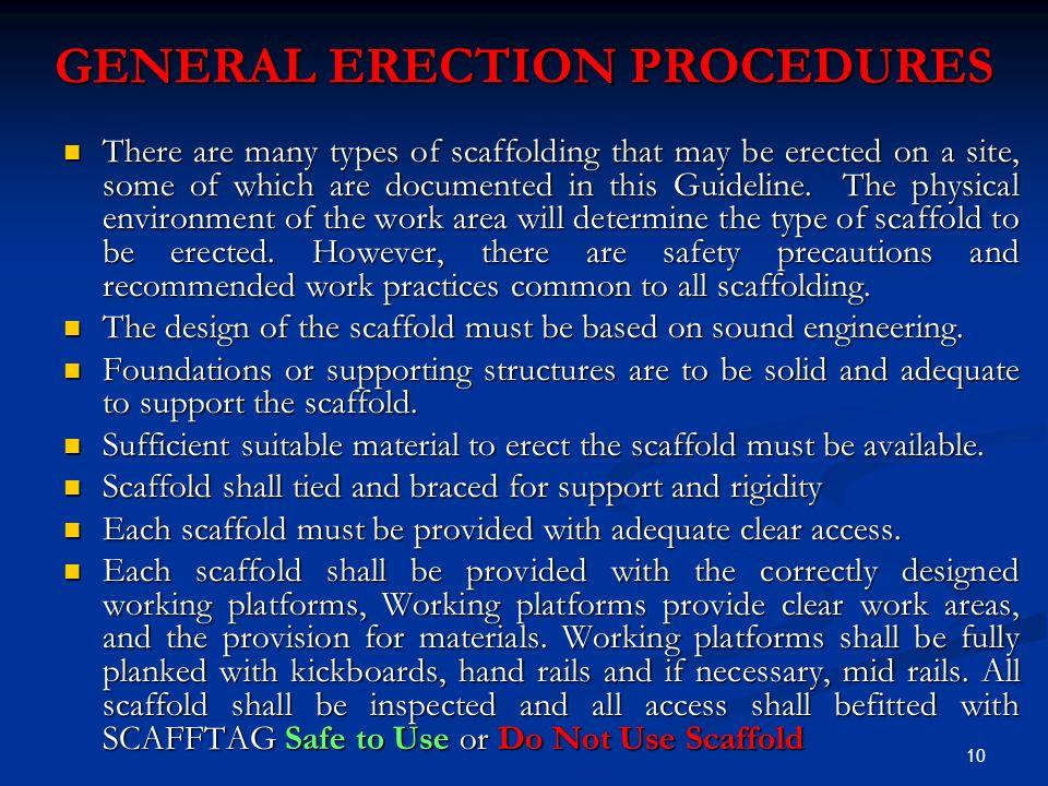 Scaffolding Erecting Procedure : Safe scaffolding presentation by bechtel
