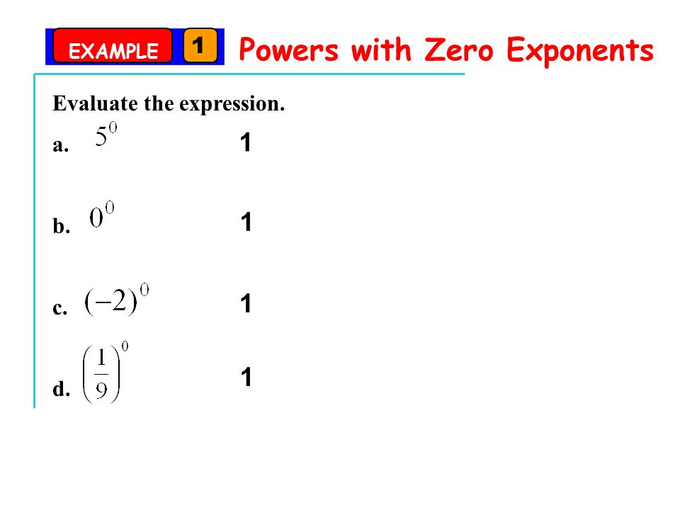 Zero and Negative Exponents ppt download – Negative and Zero Exponents Worksheet