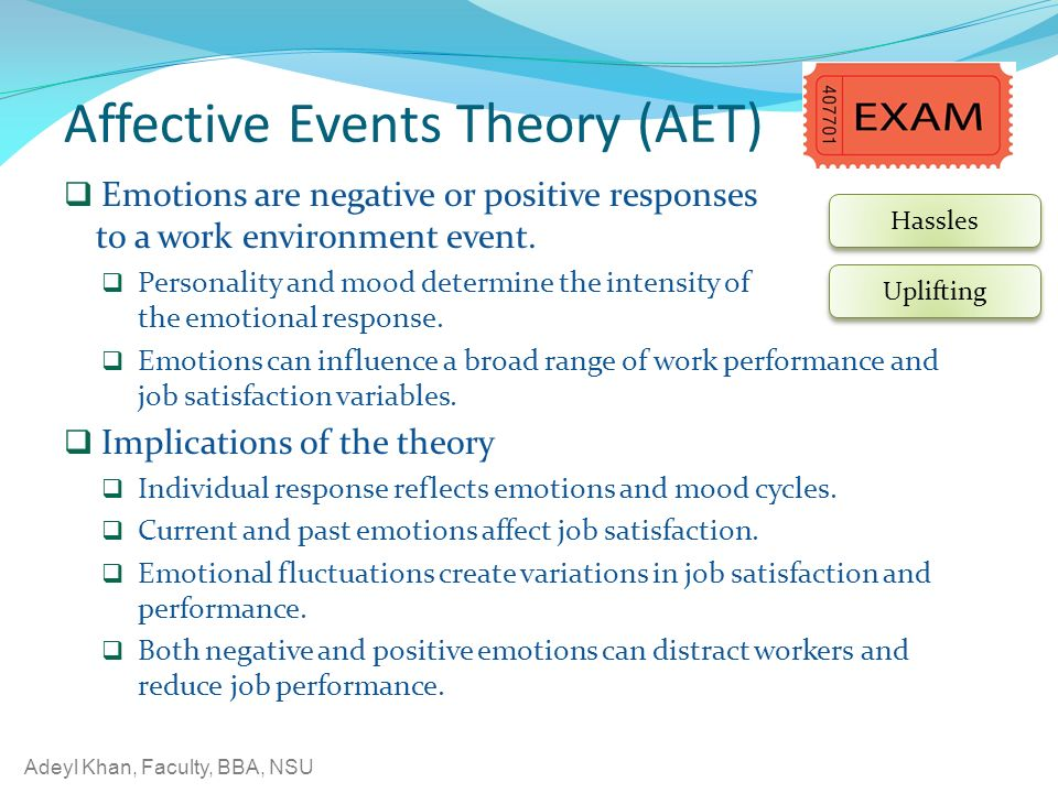 the affects of emotions on job The ability to effectively regulate emotions plays an important role in social adjustment and psychological well-being in the past decade, numerous studies have explored the effects of emotion regulation (er) strategies on a variety of outcomes, including emotional experience, expression, and.